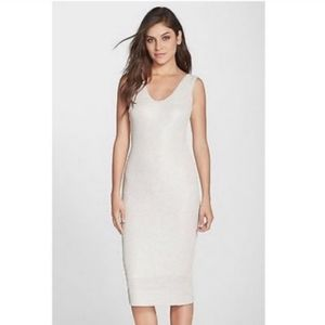 dress the population silver shimmer bodycon dress